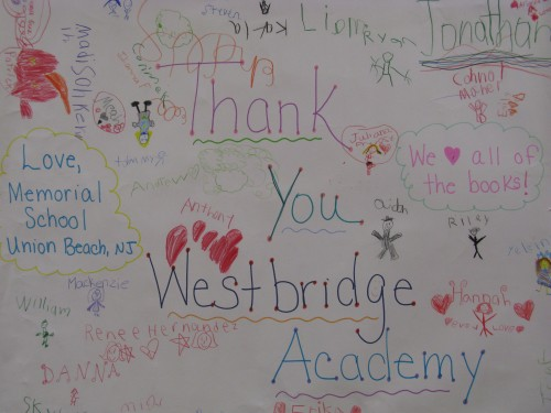 Westbridge Academy donates books to Union Beach school district after Hurricane Sandy