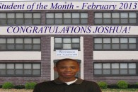 Student of the Month Template 022013 Joshua W