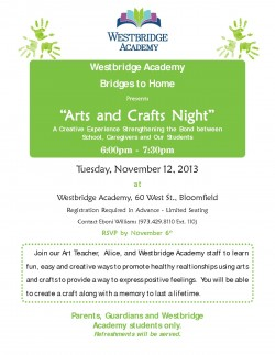 "Bridges to Home presents: ""Arts and Crafts Night"""