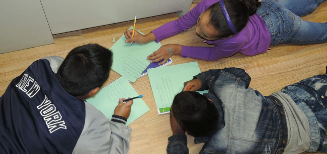 Students working on school work together - Special Education Bloomfield NJ