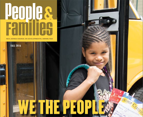 NJCDD People and Families Magazine cover - Civic Engagement for Students with Disabilities