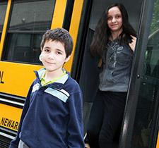 Students arriving for school at Westbridge Academy